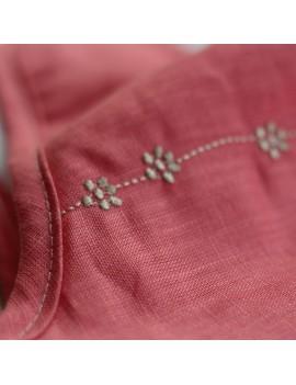 gigoteuse bebe rose flamant brode guirlande