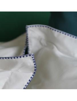 Housse de couette CRAFT Blanc broderie bleue