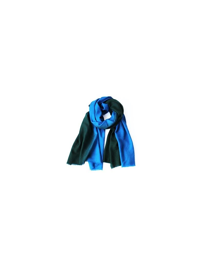 Echarpe NUANCE vert cypres / bleu
