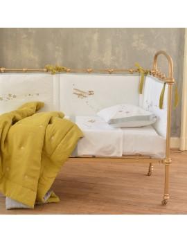 Tour de lit blanc et gris LE CIEL