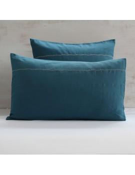 Taie d'oreiller Bleu canard -  CROSS STITCH