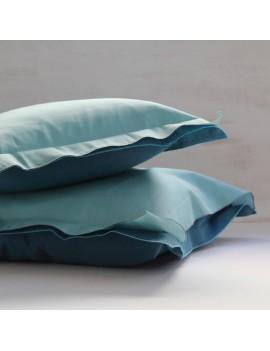 Taie d'oreiller VICE VERSA Aqua/Bleu canard