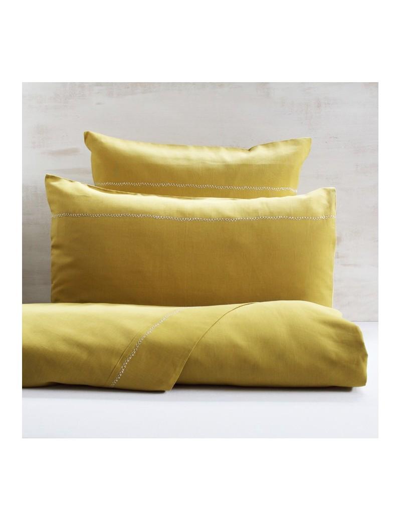 housse de couette jaune gold CROSS STITCH