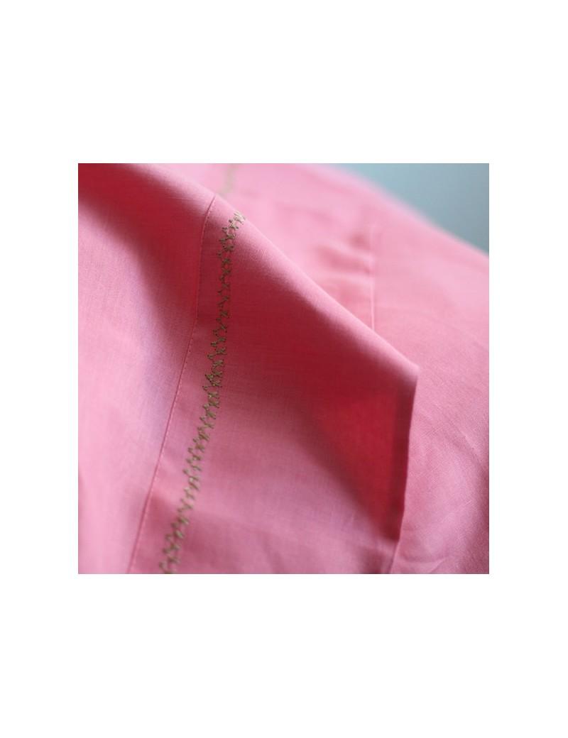 Drap couleur rose flamant CROSS STITCH