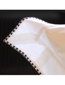 Taie d'oreiller CRAFT Blanc broderie noire