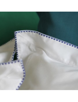 Taie d'oreiller CRAFT Blanc broderie bleue