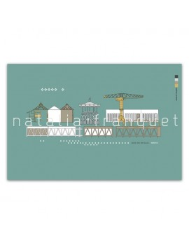 Affiche Quai des Antilles - Nantes
