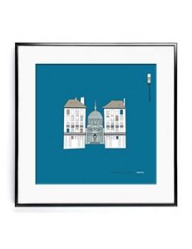 Affiche 50 x 50 cm Notre-Dame-de-Bon-Port, Nantes