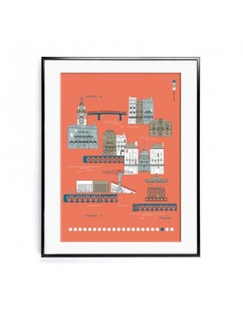 Affiche 50x70 Ville de Nantes
