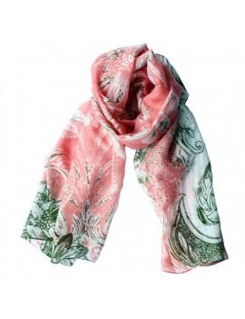 Foulard  PRIMAVERA  rose corail