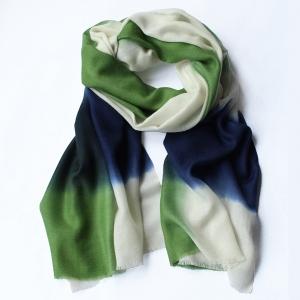 Echarpe Nuance vert gazon / marine
