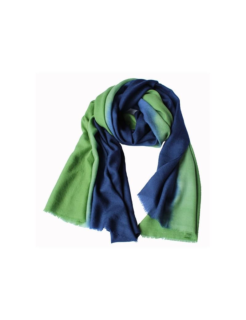 Écharpe BI vert gazon/Ultramarine