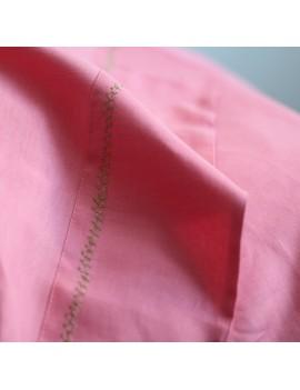housse de couette rose flamant cross stitch