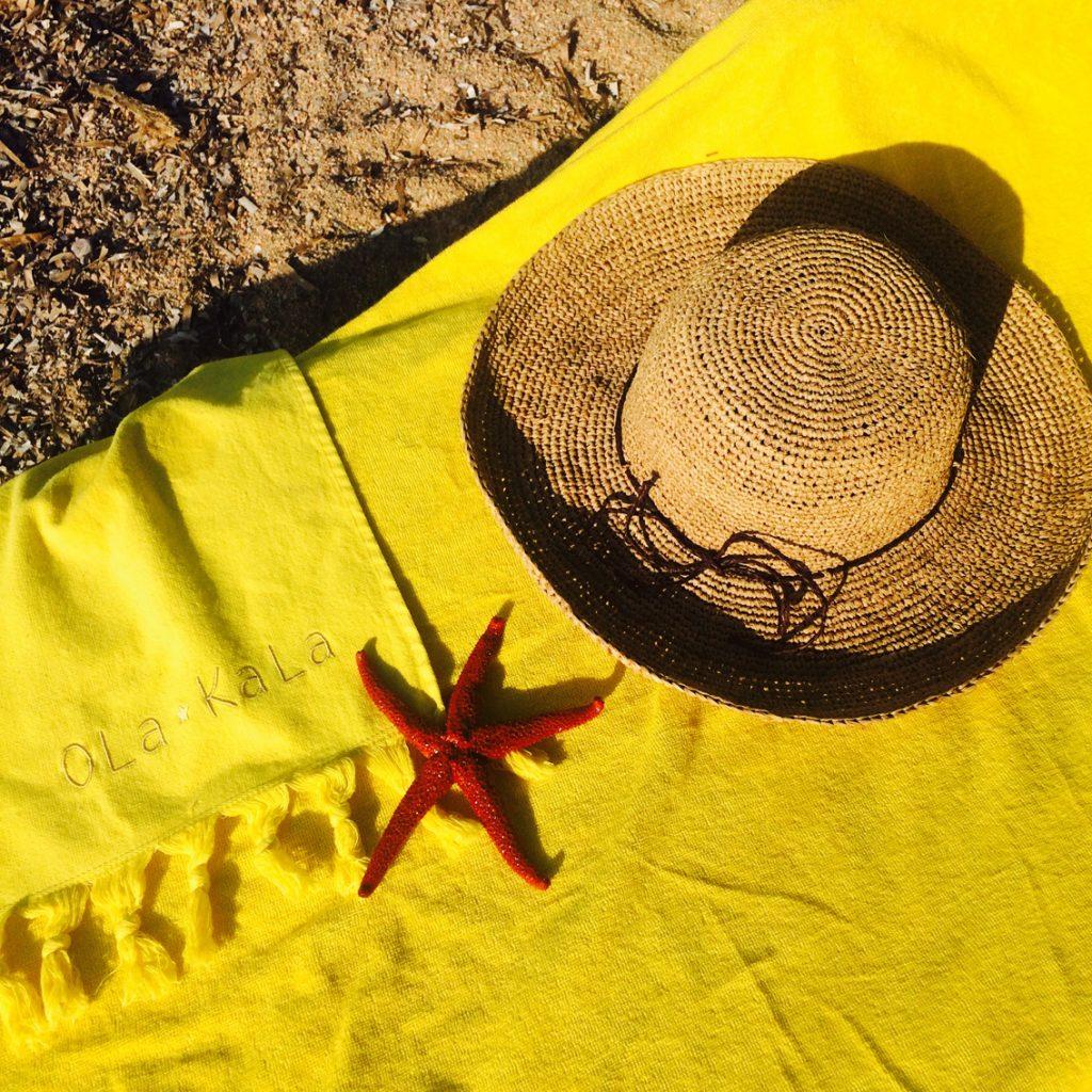 Serviettes de plage Ola Kala - Teinte Jonquille