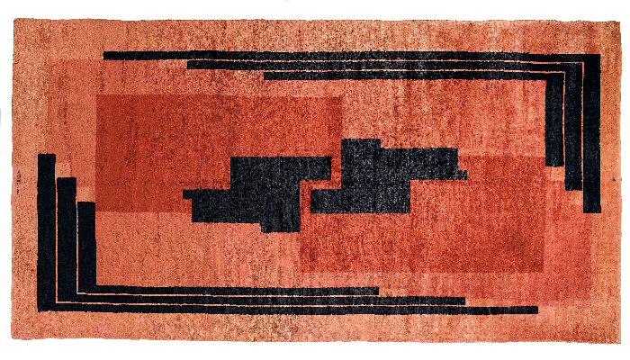 Inspiration pour Natalia Franquet, un tapis unique de Da Silva Bruhns du début des années trente