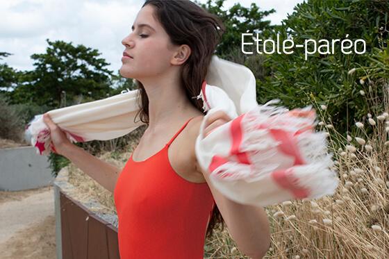 étole-paréo-écru-rouge-morris